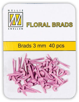 Brads mini, rosa irisierend