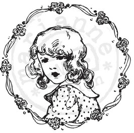 "Clingstempel ""Vintage Ladies, Flower girl"""