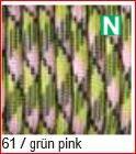 Paracord Farbmix 4mm, grün pink 61