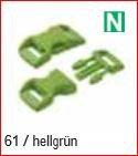 Klickschnalle 11/16 hellgrün