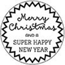 """Holzstempel """"Weihnachtsgruss"""", rund"""