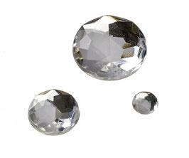 Glamoursteine rund, kristall