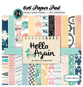 "Papierset ""Hello Again"""