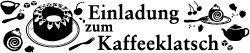 "Holzstempel ""Einladung zum Kaffeeklatsch"""