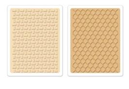 "Sizzix Textured Impressions Embossing Folders, ""Basket Weave & Honeycomb Set """