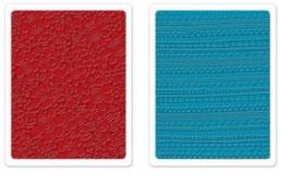 "Sizzix Textured Impressions Embossing Folders, ""Borders & Flowers Set"""