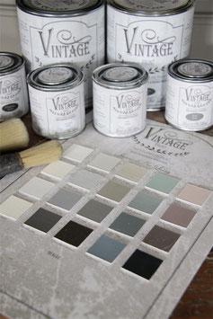 Farbkarte mit allen 60 Farbtönen von Jeanne d'Arc Living's Vintage Paint
