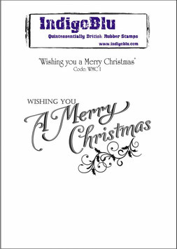"Stempel Weihnachten ""Wishing you a Merry Christmas"""