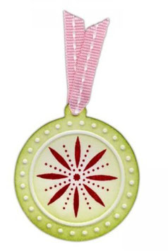 Sizzix Embosslits Die - Charm, Circle