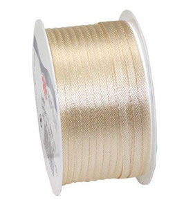 Satinband 3mm, creme