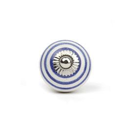 Möbelgriff A43, Streifen weiss/blau