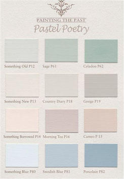"Shabby Chic Farbe Painting the Past, Farbkarte ""Pastel Poetry"""