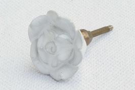 Möbelknopf B1, Rose weiss 61213