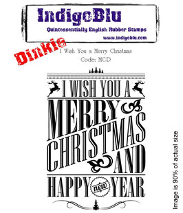 "Stempel Weihnachten: ""I wish you a Merry Christmas"""
