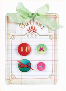 Stanzschablone Sizzix Bigz Die, Button Card