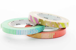 "Masking-Tape-Set 3 schmale Rollen ""Happy"""