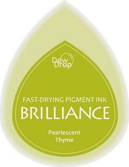 Pigmentstempelkissen Tropfen Brilliance, klein, Thymian Perlenschimmer