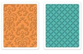 "Sizzix Textured Impressions Embossing Folders,""Chateau Damask & Veranda Set"""