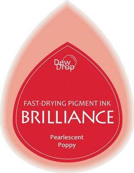 Pigmentstempelkissen Tropfen Brilliance, klein, Mohnblume Perlenschimmer