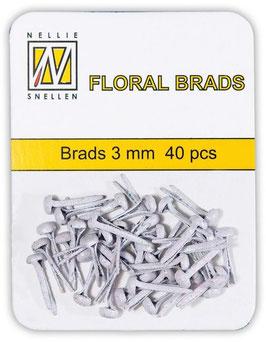 Brads mini, weiss irisierend