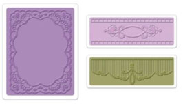 """Sizzix Textured Impressions Embossing Folders, """"Oval Lace Set"""""""