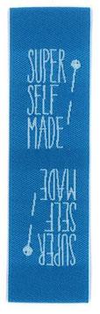 "Label ""Super Selfmade blau"""