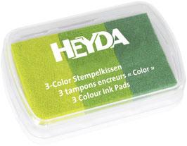 Stempelkissen 3 color Grüntöne Heyda