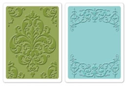 "Sizzix Textured Impressions Embossing Folders,""Elegant Set"""