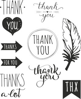 "Clearstamps ""Thank you"""
