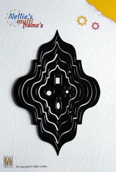 Stanzschablonen Oval asiatisch