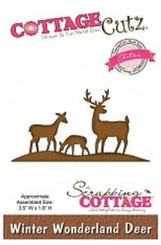 "Sizzix Big Shot  Stanzschablone Scrapping Cottage ""Winter Wonderland Deer"" (CCE-049)"
