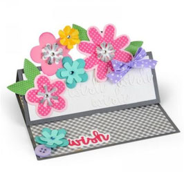 Sizzix Thinlits Die Set 11Teile - Flower Layers & Leaf