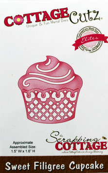 """Sizzix  Stanzschablone """"Sweet Filigree Cupcake"""""""