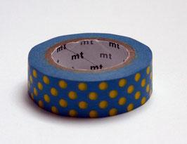 """Masking Tape """"Punkte hellblau-gelb"""""""