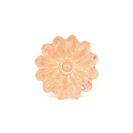 Möbelknopf B9rose, Blume rose, transparent, geschliffen