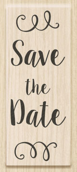 """Holzstempel """"Save the Date"""""""