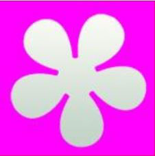 Stanzer L, Retro Blume ca. 3.5 cm