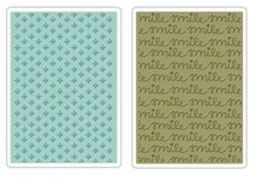 "Sizzix Textured Impressions Embossing Folders, ""Smile & Plus Set """