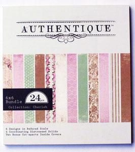"Papierblock Authentique ""Cherish"""