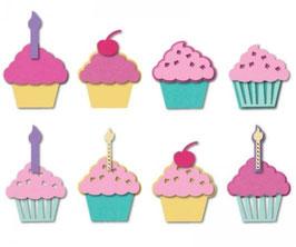Sizzix Triplits Die Set 9Teile - Cupcakes