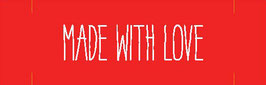 "Label ""Made with love rot"""