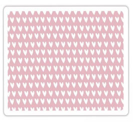 Sizzix Textured Impressions Embossing Folder - Candy Hearts