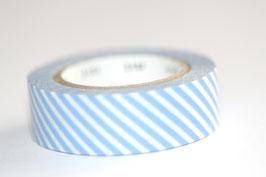 """Masking Tape """"quergestreift blau"""""""