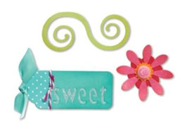 "Sizzix Sizzlits Die Set 3PK, ""Sweet Things Set"""