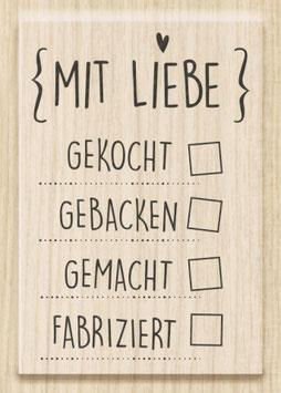 """Holzstempel """"Mit Liebe"""""""