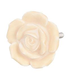 Möbelknopf Rose elfenbein 61869