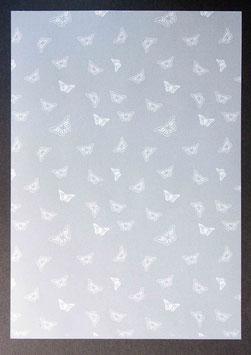 Bedrucktes Transparentpapier kleine Schmetterlinge T6