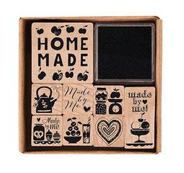 Holzstempelset Homemade