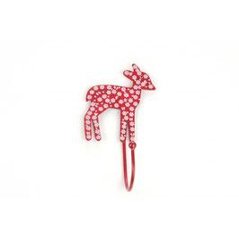 Haken, Bambi, Blümchen, rot, H67