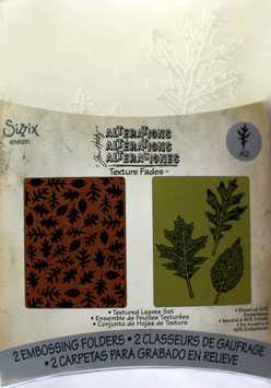 "Sizzix Textured Impressions Embossing Folders,""Textured Leaves Set"""